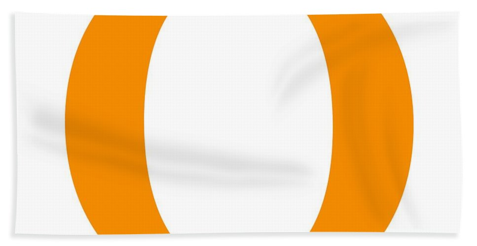 O Beach Towel featuring the digital art O In Tangerine Typewriter Style by Custom Home Fashions