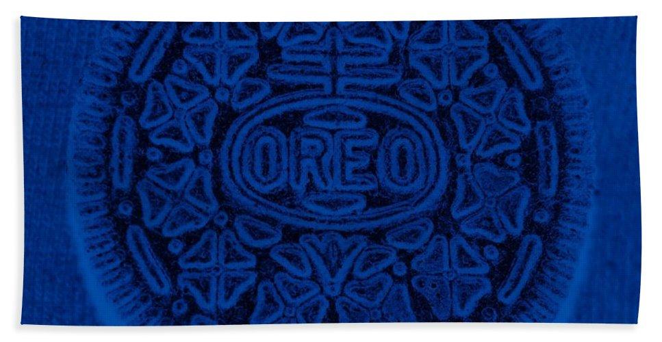Oreo Beach Towel featuring the photograph O R E O In Blue by Rob Hans