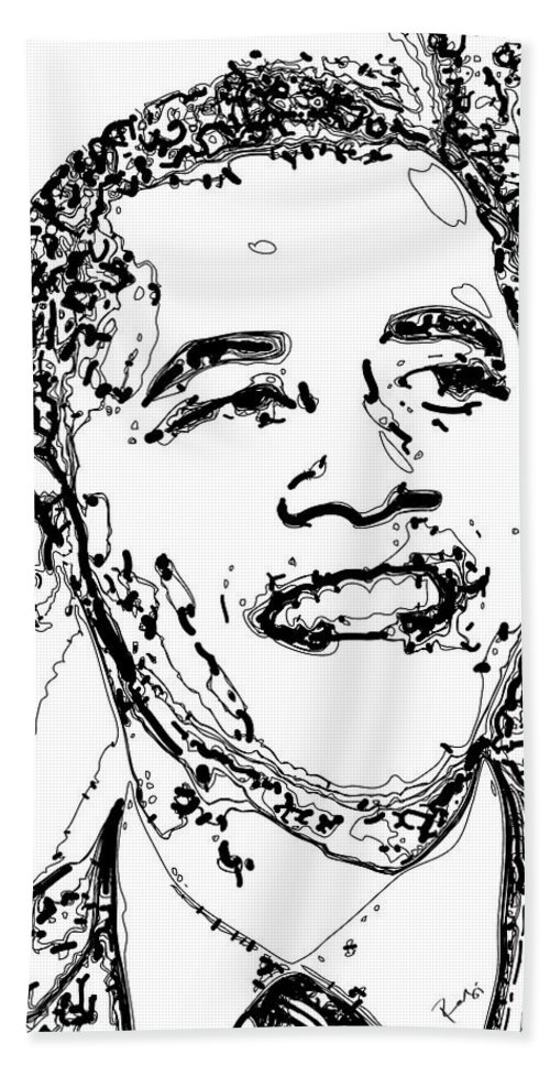 American Beach Sheet featuring the digital art Obama by Rabi Khan