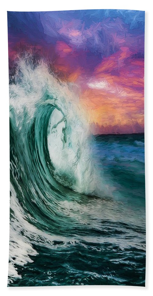 Abstract Beach Towel featuring the digital art Observing The Profound Vista - Companion by Don DePaola