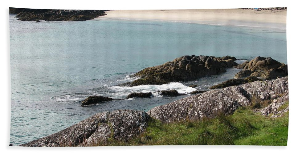 Kerry Beach Towel featuring the photograph O'carrol's Cove by Kelly Mezzapelle