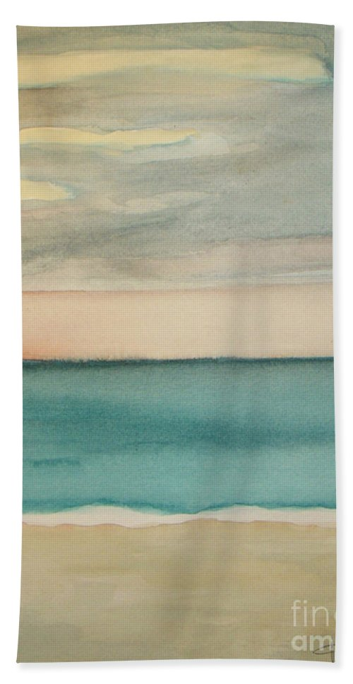 Ocean Beach Beach Towel featuring the painting Ocean Beach by Vesna Antic