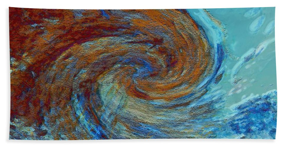 Hurricane Beach Towel featuring the digital art Ocean Colors by Linda Sannuti