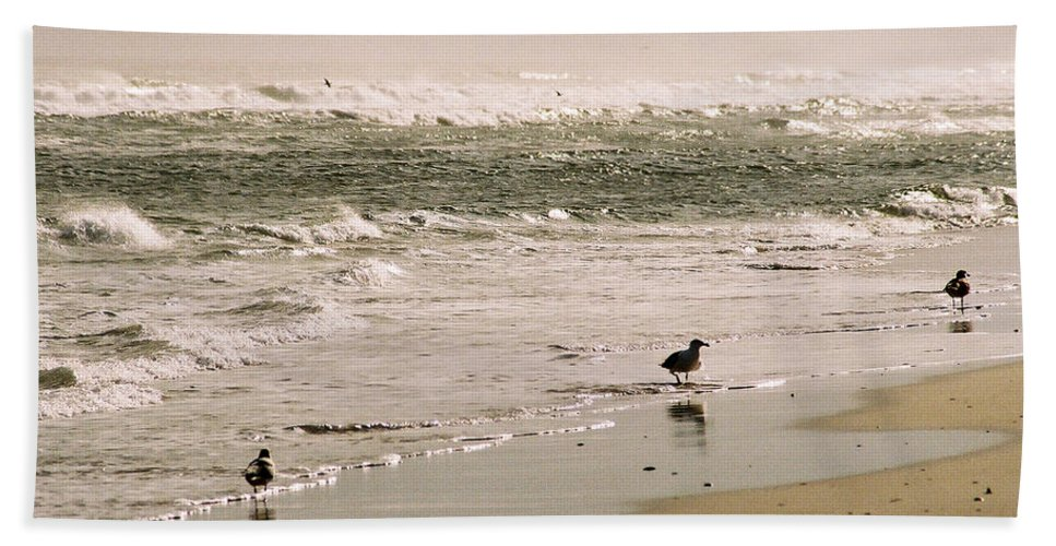 Seascape Beach Sheet featuring the photograph Ocean Edge by Steve Karol