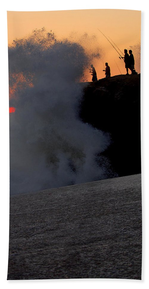 Ocean Beach Towel featuring the photograph Ocean Fishing For Man by Jill Reger