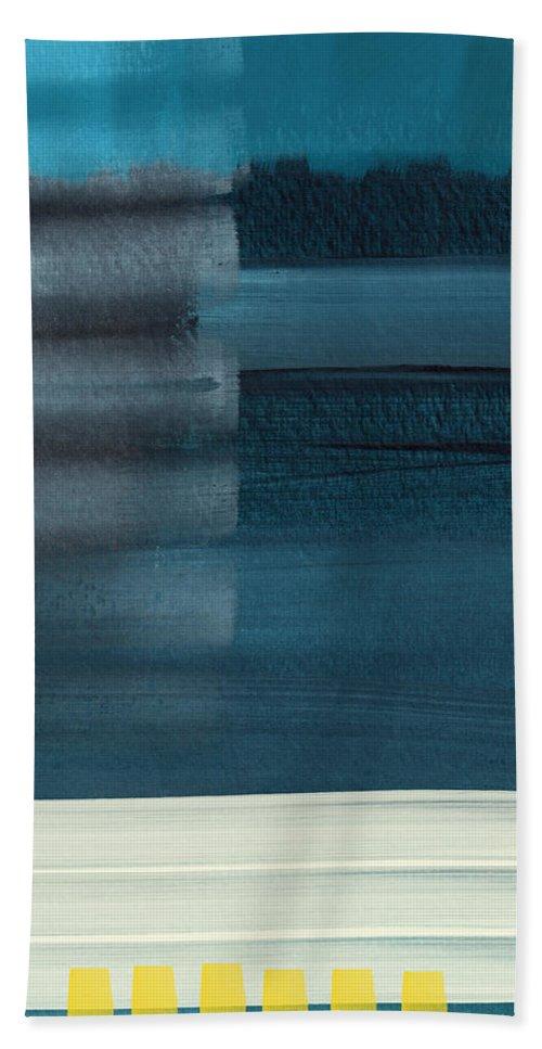 Beach Beach Towel featuring the painting Ocean Front Walk 3- Art By Linda Woods by Linda Woods