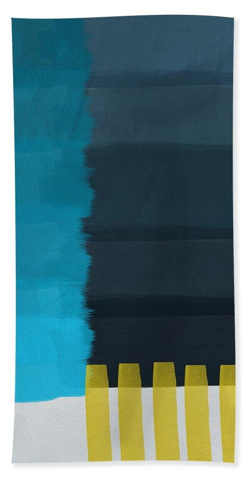 Ocean Beach Towel featuring the painting Ocean Front Walk- Art By Linda Woods by Linda Woods