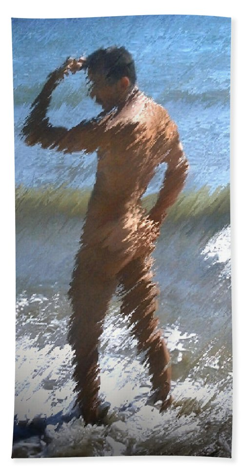 Nudes Beach Sheet featuring the photograph Ocean Thoughts by Kurt Van Wagner