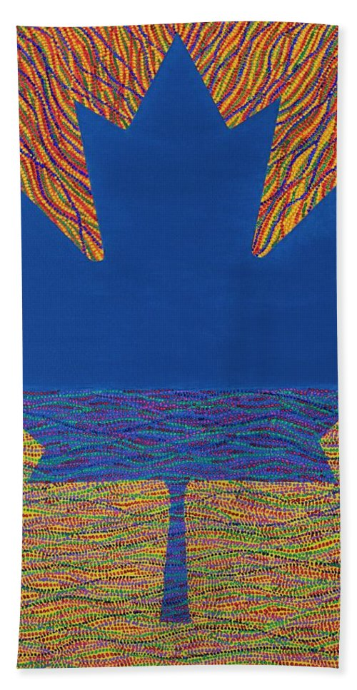 Modern Beach Towel featuring the painting Oh Canada 2 by Kyung Hee Hogg