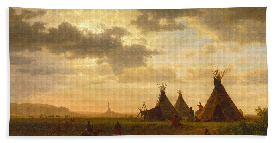 Ohalilah Sioux Village Wall Art Prints - Chimney Rock Beach Towel ...