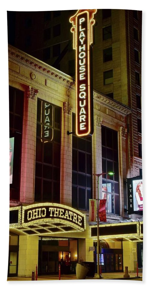 Cleveland Beach Towel featuring the photograph Ohio And State Theaters by Frozen in Time Fine Art Photography