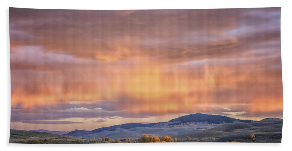 Colorado Beach Towel featuring the photograph Ohio Pass Colorado Sunset Dsc07562 by Greg Kluempers