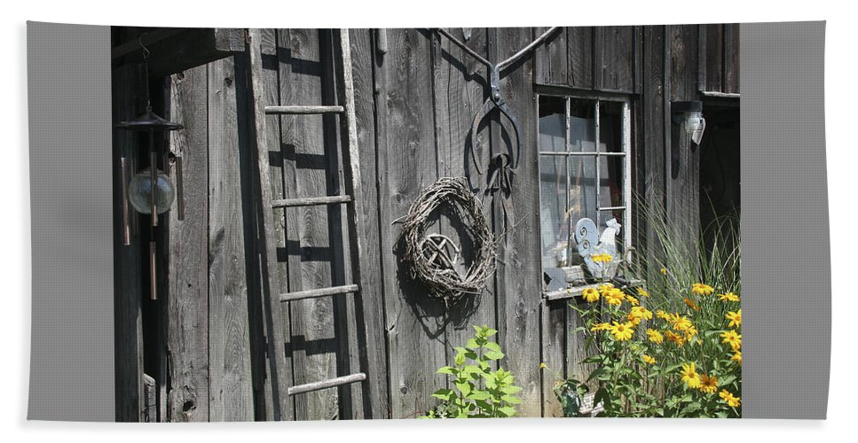 Barn Beach Towel featuring the photograph Old Barn II by Margie Wildblood