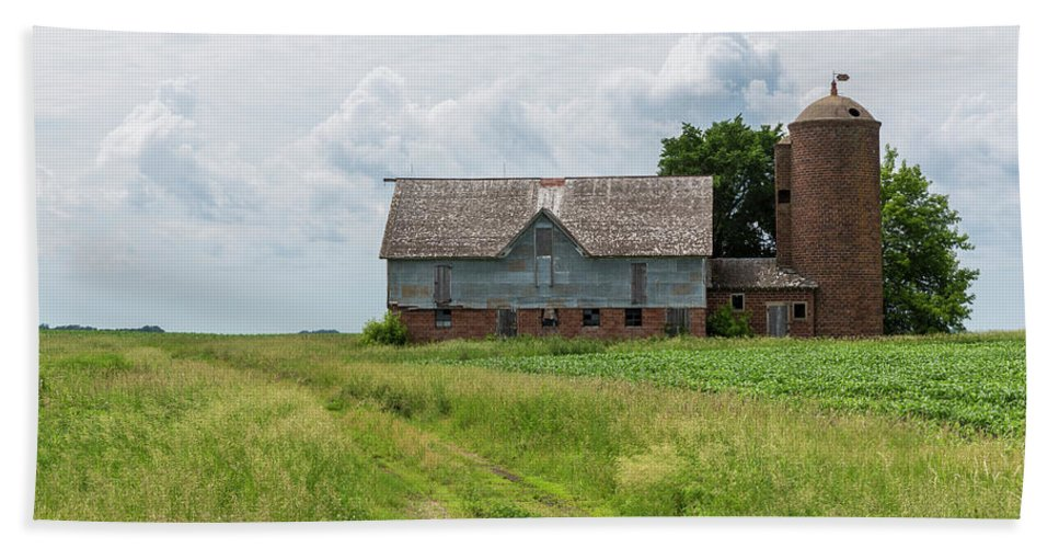 Barn Beach Towel featuring the photograph Old Barn Country Scene 4 A by John Brueske