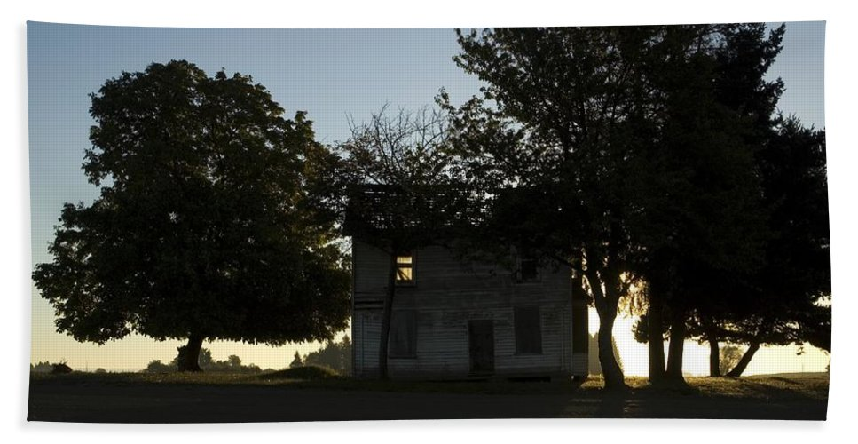 Farm House Beach Towel featuring the photograph Old Burnt House by Sara Stevenson