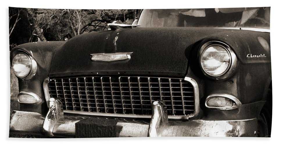 Americana Beach Towel featuring the photograph Old Chevy by Marilyn Hunt