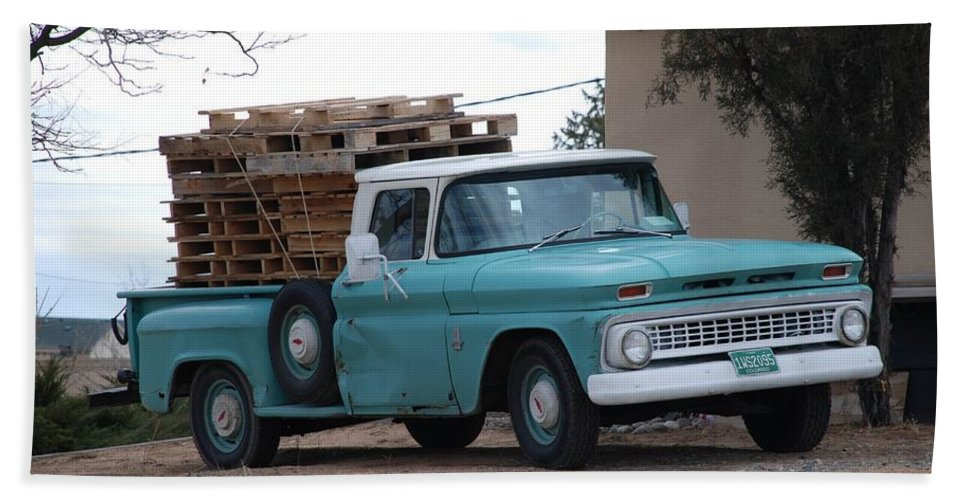 Old Truck Beach Towel featuring the photograph Old Chevy by Rob Hans