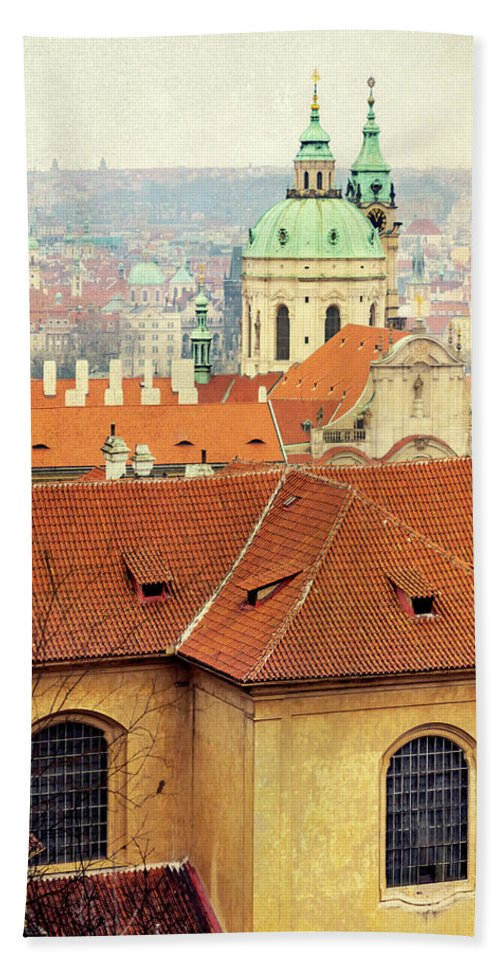 City Beach Towel featuring the photograph Old Church In Prague by Svetlana Sewell