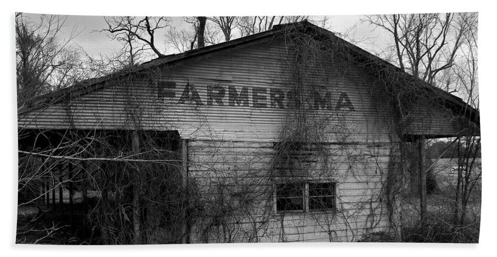 Farmer Beach Towel featuring the photograph Old Farmer's Market Shed by Betty Northcutt