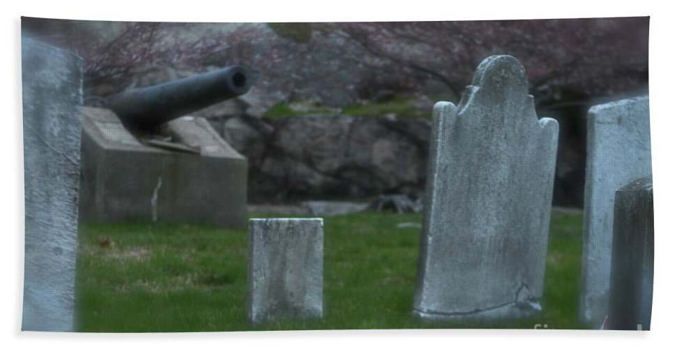 Cemetery Beach Towel featuring the photograph Old Graves by Rick Monyahan