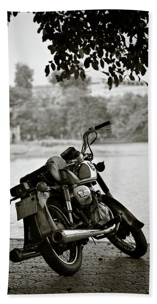 Honda Beach Towel featuring the photograph Old Honda In Hanoi by Dave Bowman