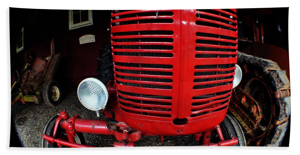 Clay Beach Towel featuring the photograph Old International Harvester Tractor by Clayton Bruster