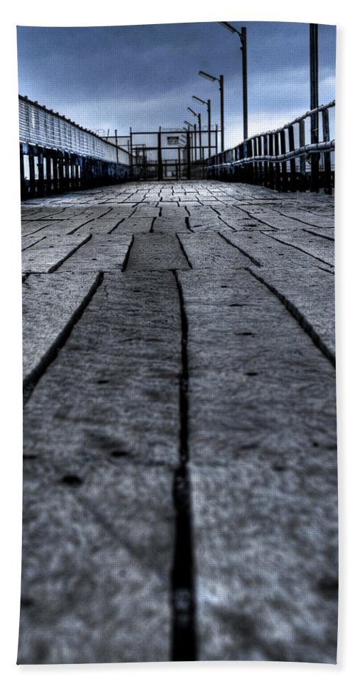 Jetty Beach Sheet featuring the photograph Old Jetty 2 by Kelly Jade King