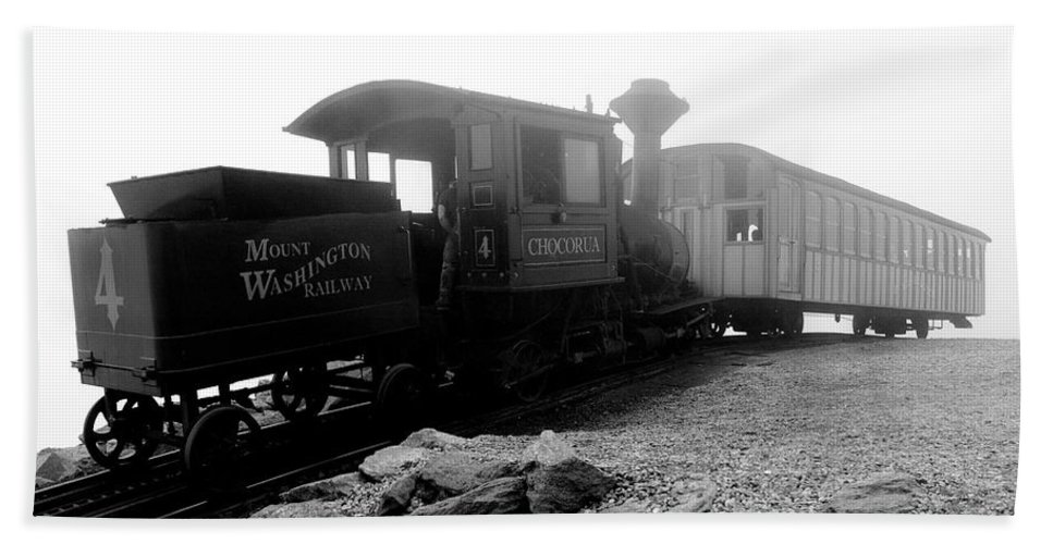 Train Beach Towel featuring the photograph Old Locomotive by Sebastian Musial