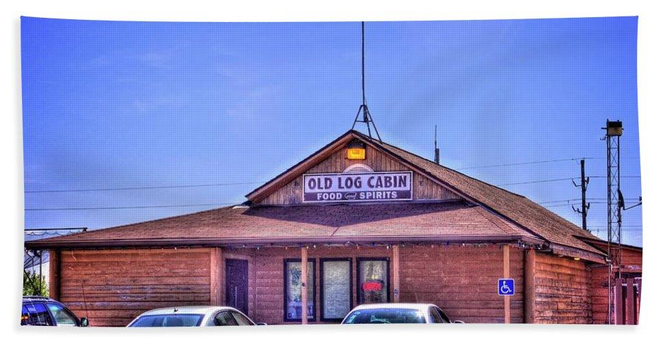 Pontiac Beach Towel featuring the photograph Old Log Cabin Inn by Fred Hahn