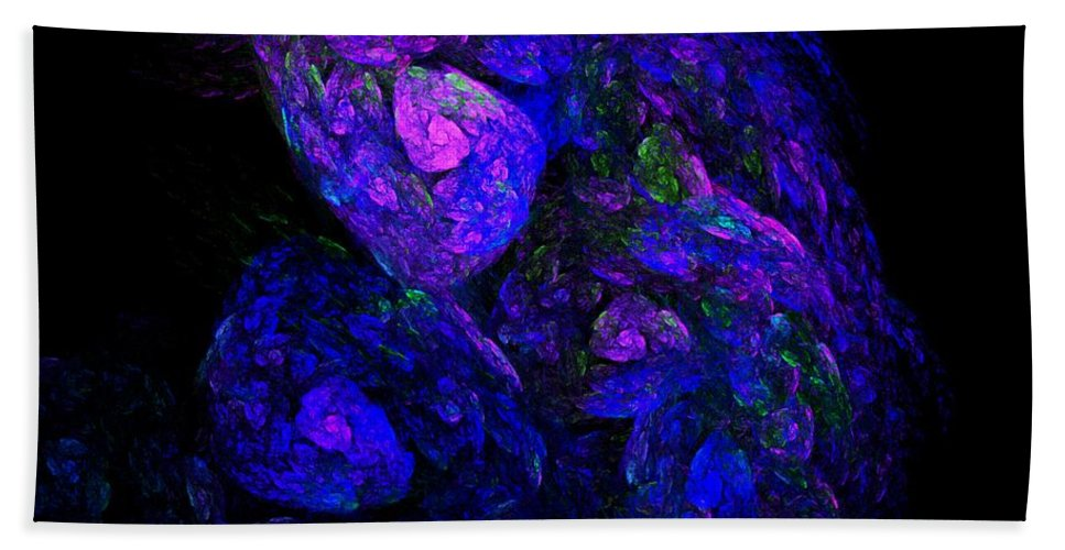 Abstract Digital Photo Beach Towel featuring the digital art Old Man Take A Look At Yourself by David Lane