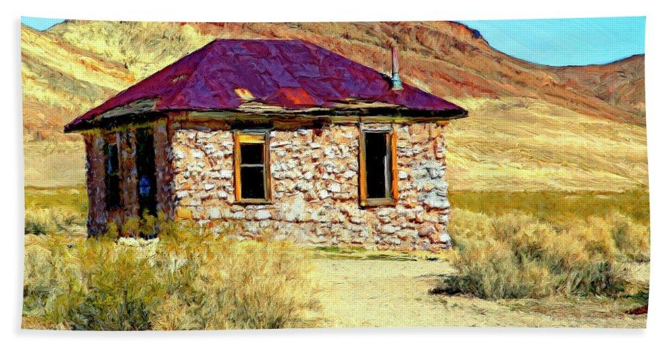 Bordello Beach Towel featuring the painting Old Nevada Bordello by Dominic Piperata