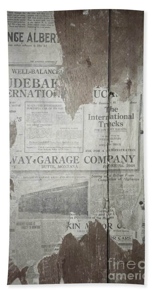 Newspapers Beach Towel featuring the photograph Old News by Richard Rizzo