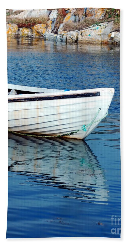 Old Beach Towel featuring the photograph Old Row Boat by Kathleen Struckle
