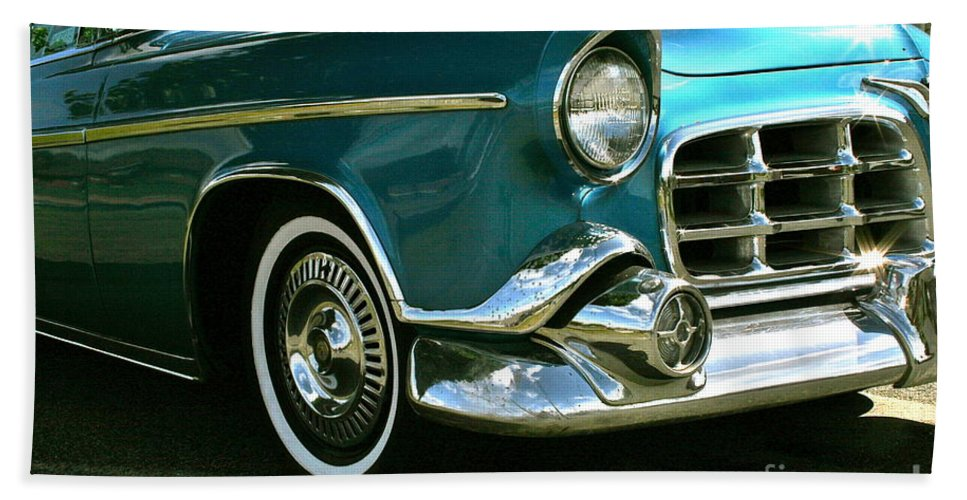 Car Beach Towel featuring the photograph Old School by Rick Monyahan