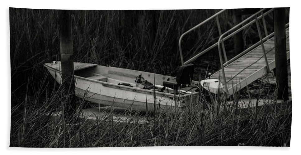 Boat Beach Towel featuring the photograph Old South Fishing by Dale Powell