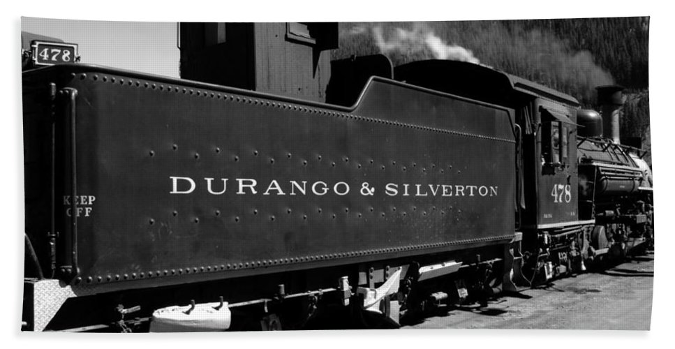 Durango And Silverton Beach Towel featuring the photograph Old Steam by David Lee Thompson