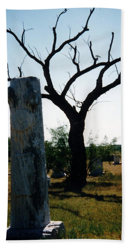 Stones Trees Old Headstones Beach Towel featuring the photograph Old Stones In Old Cementery by Cindy New