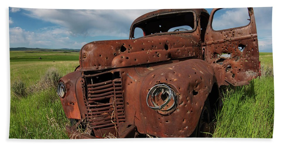 Old Truck Beach Towel featuring the photograph Old Truck by Leland D Howard