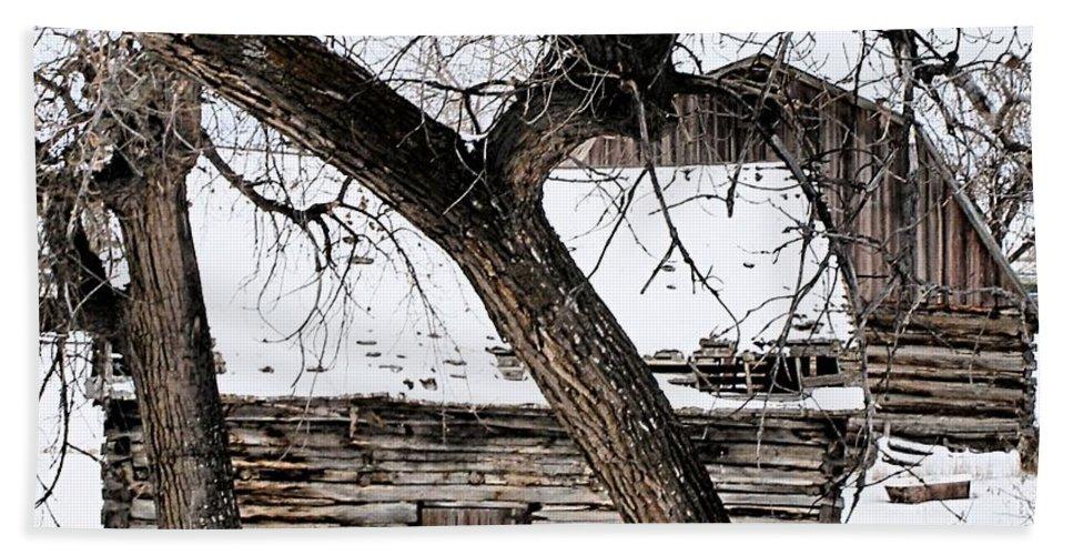 Old Barn Beach Towel featuring the photograph Old Ulm Barn by Susan Kinney