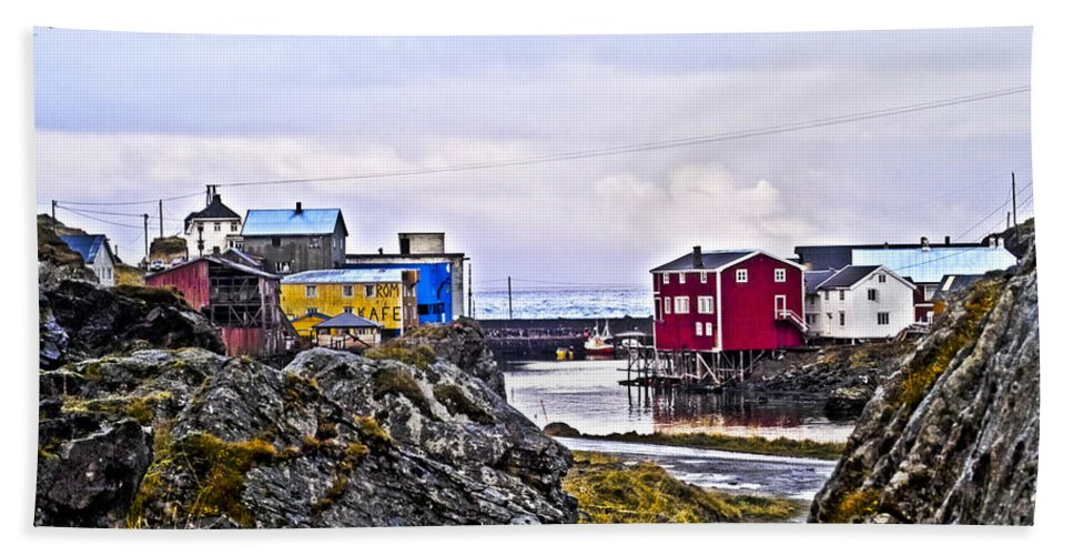 Heiko Beach Towel featuring the photograph Old Whaling Village Nyksund by Heiko Koehrer-Wagner