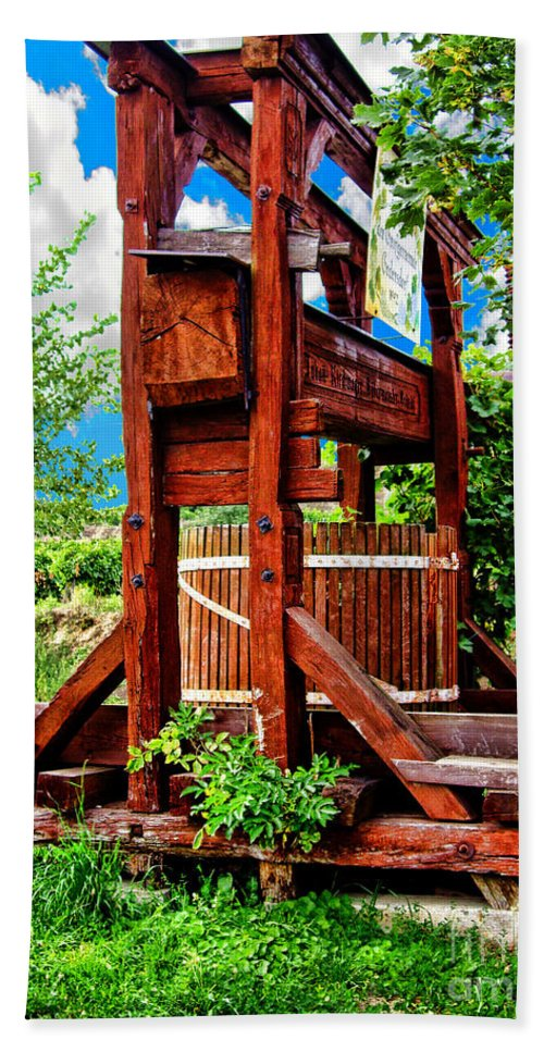 Mariola Bitner Beach Towel featuring the photograph Old Wine Press by Mariola Bitner
