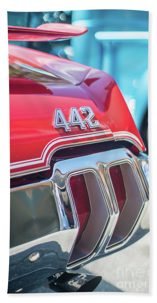 Chevy Beach Towel featuring the photograph Olds 442 Classic Car by Mike Reid