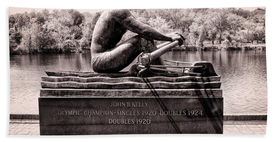 Olympic Beach Towel featuring the photograph Olympic Champion - John B Kelly by Bill Cannon