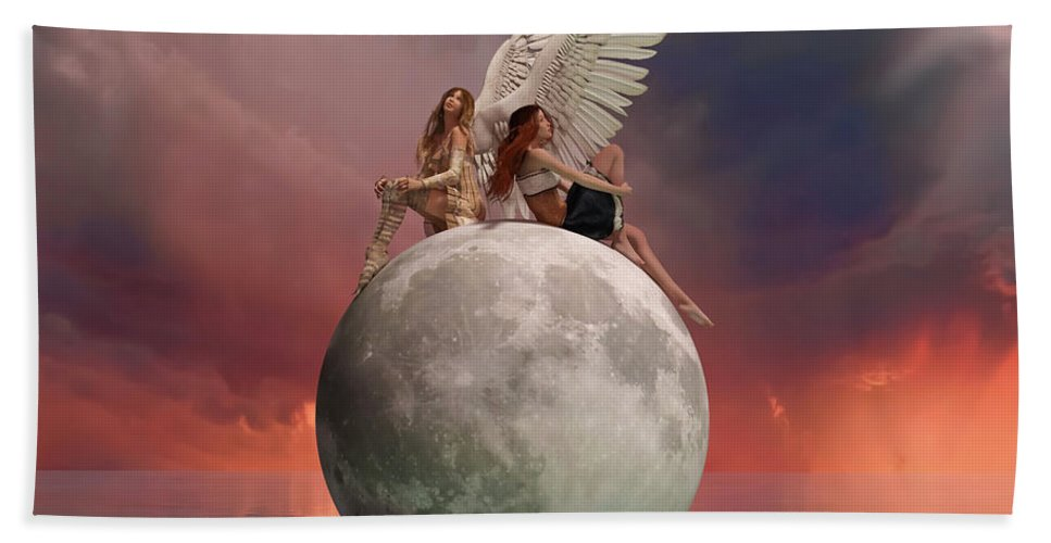 3d Beach Towel featuring the digital art On A Wing And A Prayer by Betsy Knapp