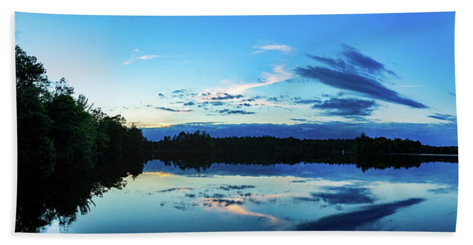Www.cjschmit.com Beach Towel featuring the photograph On Broken Bow Lake by CJ Schmit