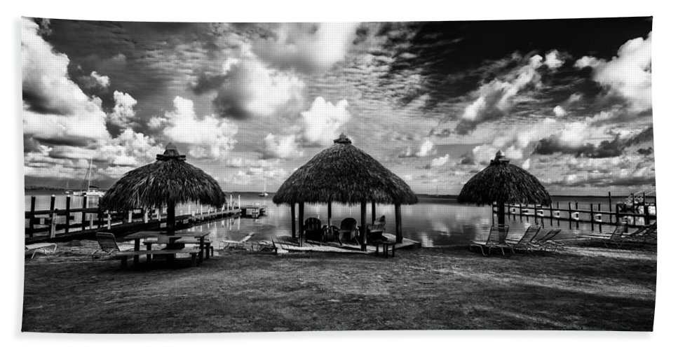 Huts Beach Towel featuring the photograph On The Island by Kevin Cable