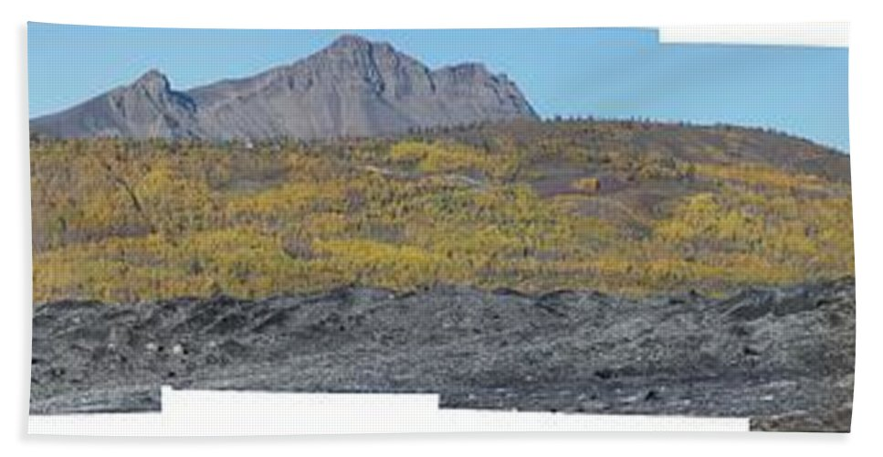 Landscape Beach Towel featuring the photograph On The Matanuska Glacier by Ron Bissett