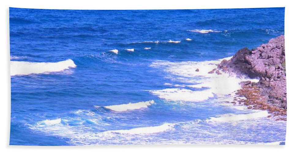 Atlantic Beach Sheet featuring the photograph One After Another by Ian MacDonald