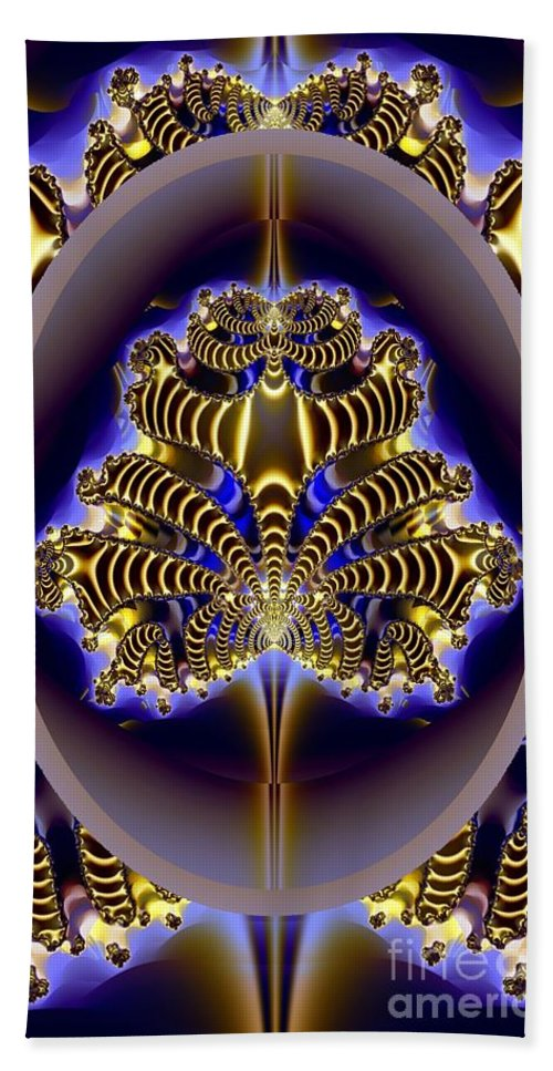 Fractal Beach Towel featuring the digital art One Of Many by Ron Bissett