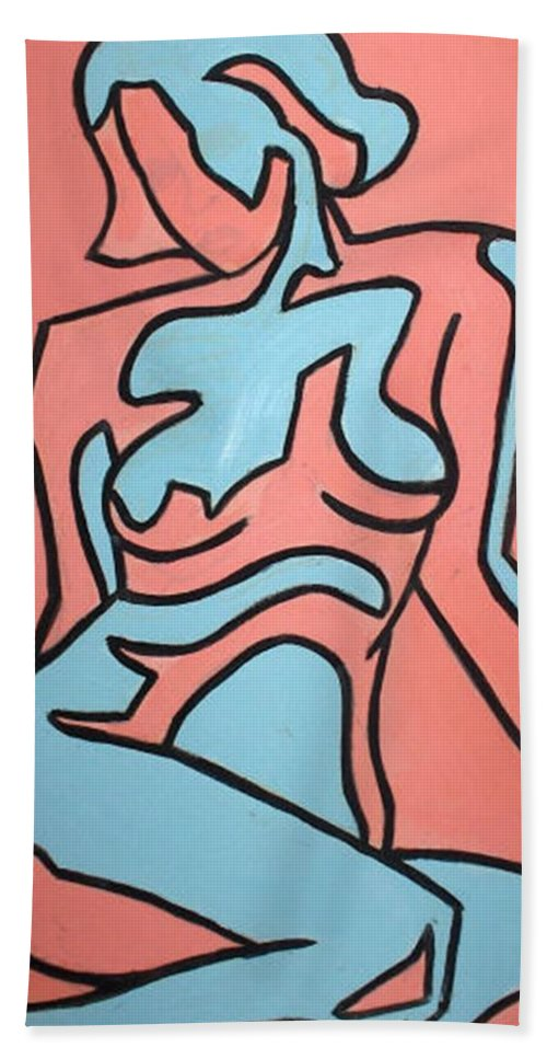 Women Beach Towel featuring the painting One by Thomas Valentine